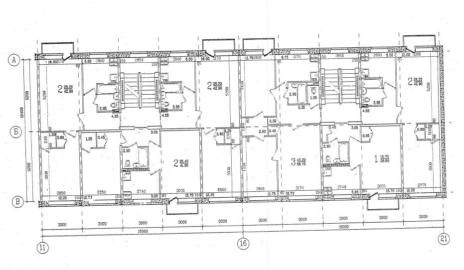 Дома 468 серии (1-468)  Планировка