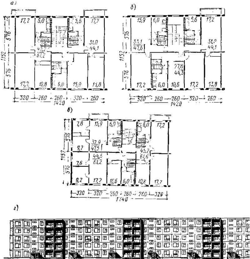 Серия 1-464a планировка