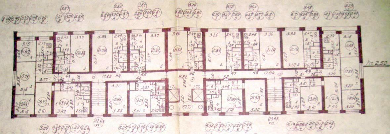 Типовой жилой дом серии 5733 Планировка
