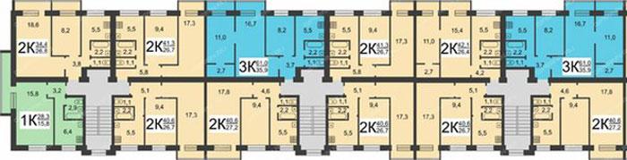 Типовой проект  Серия II-29 план 1