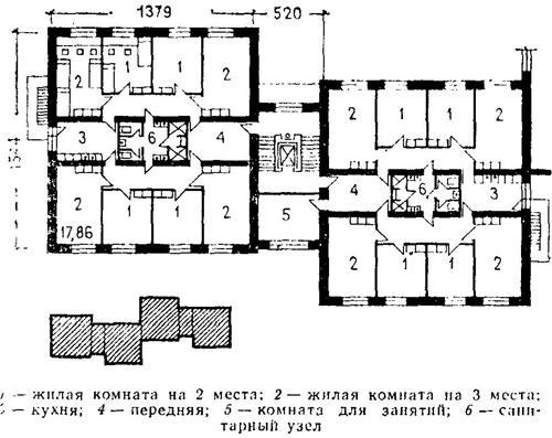 Типовой проект I-447С-54. Планировки.