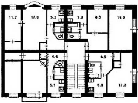 Серия 1-528кнп22 планировка