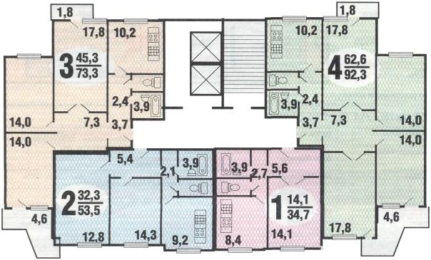 СерияП-3 планировка
